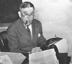 H.L. Mencken in his office. He probably hates your dumb novel.